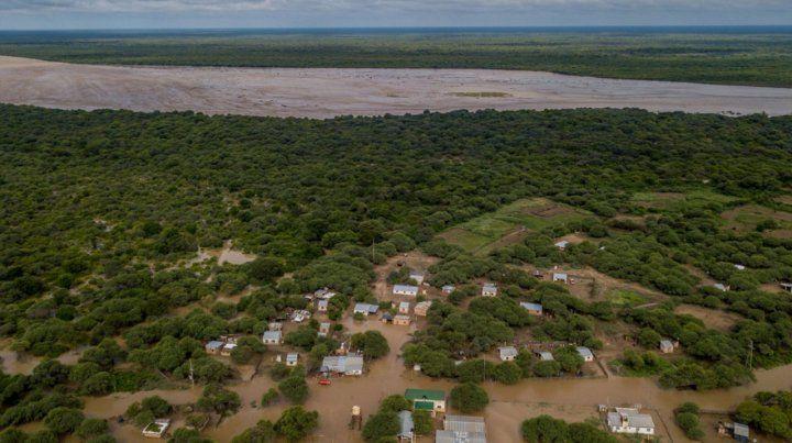 Tartagal. El río Pilcomayo crece e inunda regiones de Salta y Formosa.