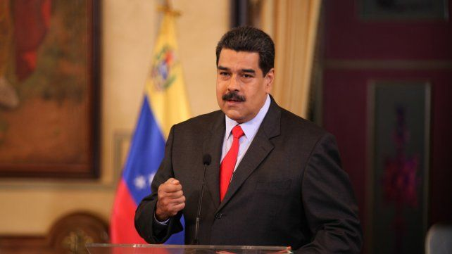 Caracas. El mandatario Nicolás Maduro en su última conferencia de prensa ofrecida en el Palacio de Miraflores.
