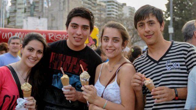 Una multitud abrió la fiesta del helado artesanal que sigue hoy y mañana