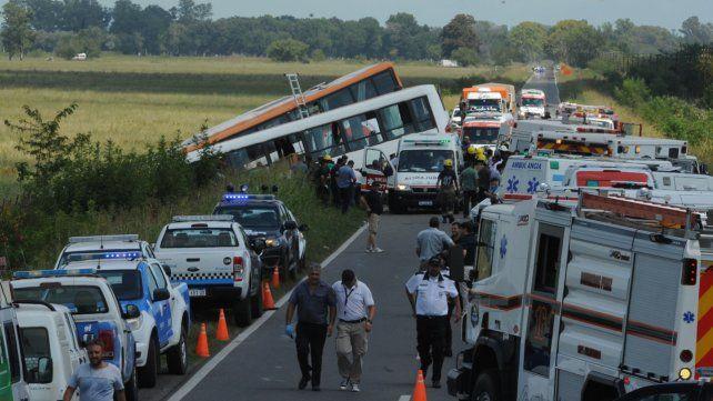 Día fatídico. El 24 de febrero de 2017 los coches de Monticas y Metropolitana chocaron de frente. El saldo: 13 muertos y una treintena de heridos.