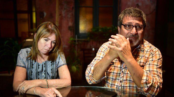 En lucha. Cristina y Sergio buscarán que los reciba hoy algún funcionario del gobierno provincial.