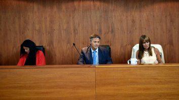 Tribunal. Los jueces Usandizaga, Manfrin y Mas Varela.