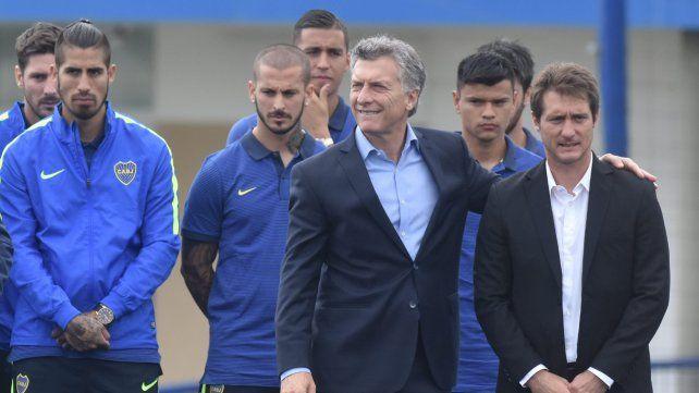 Amigos desde siempre. Macri y Guillermo Barros Schelotto tienen una gran relación desde que coincidieron en Boca.