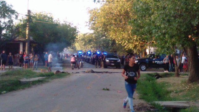 Hubo un gran despliegue policial en la zona. (Foto: captura de TV)