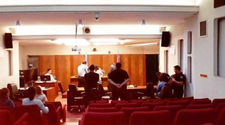 En tribunales. Durante la audiencia