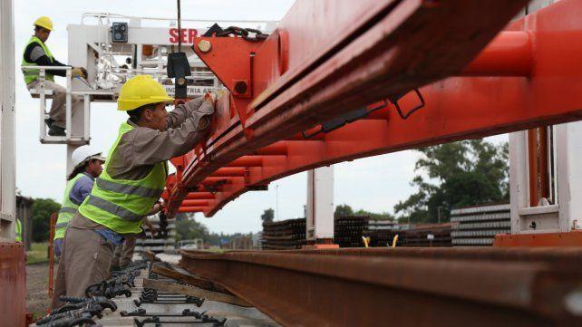 A nuevo. En Santa Fe se llevan renovados 203 kilómetros de vías.