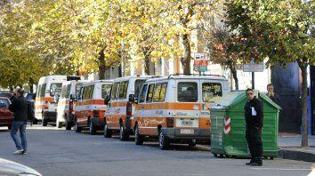 Frente a la Dante. El transporte escolar, más organizado.