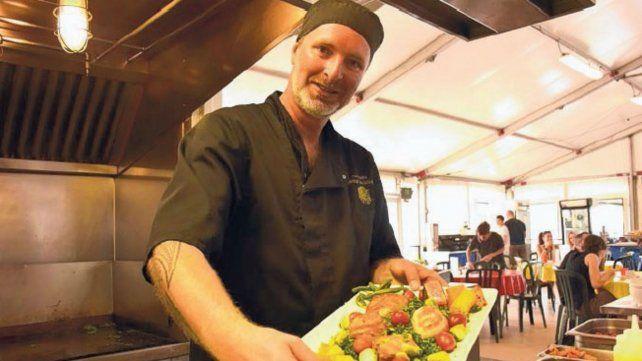 """Pim Valken, jefe de cocina de """"Amaluna II"""" desde hace cinco años."""