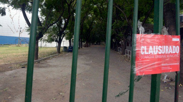 Puertas cerradas. El domingo pasado el municipio clausuró el salón tras una fallida fiesta la noche anterior.