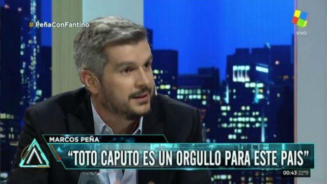 Marcos Peña: A Caputo lo recontra banco, es un orgullo para el país