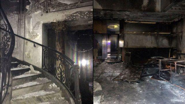 El fuego dejó su impronta en el interior del inmueble.