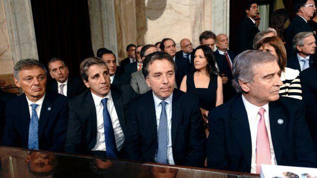 El equipo. Los ministros de Finanzas y Hacienda