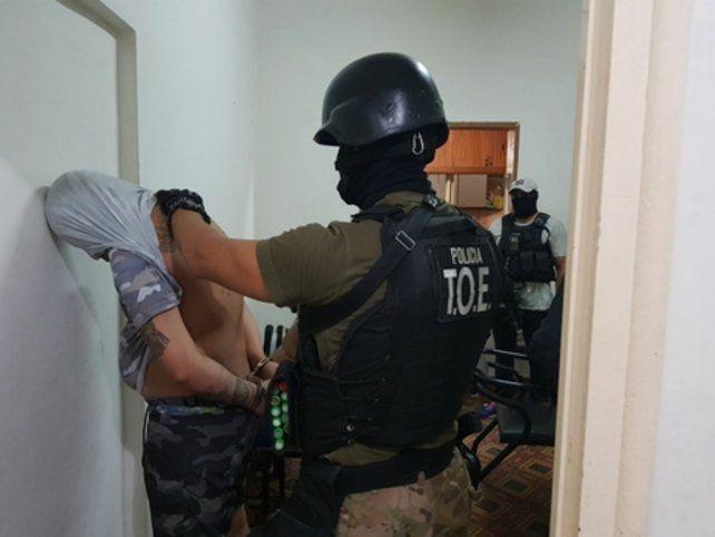 preso. Emanuel Sandoval fue detenido el viernes pasado en un departamento de la ciudad de Fray Luis Beltrán.