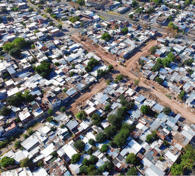 intervención. Tareas de urbanización en el Cordón Ayacucho.