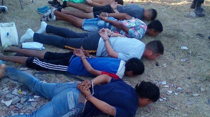 Cinco de los detenidos eran mayores