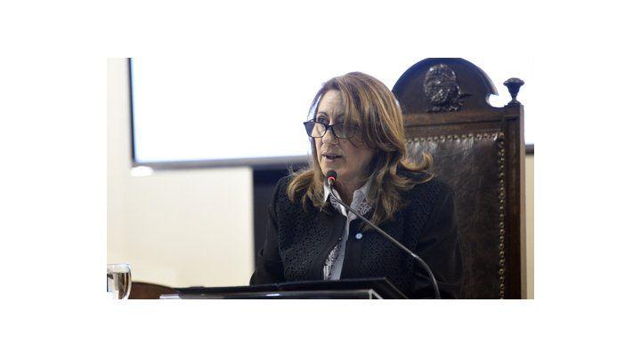 en 2017. La responsable del Palacio de los Leones durante su discurso ante los ediles del año pasado.