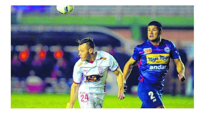 En 2016. El último partido del charrúa en la copa. Fue derrota 2-1 ante Huracán.