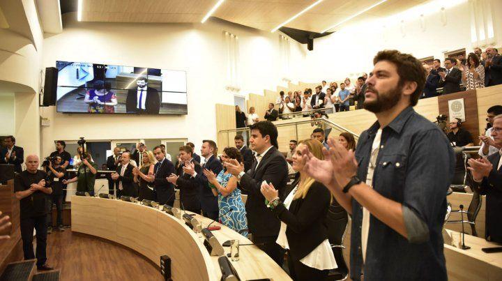 Los concejales dieron su opinión tras el discurso de Mónica Fein.