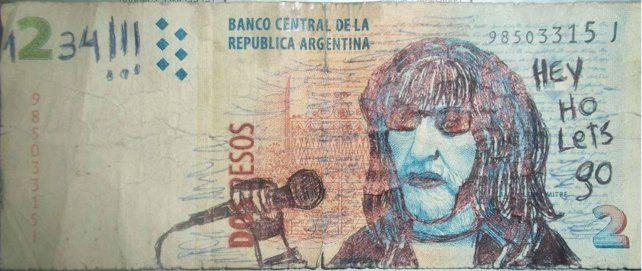 El cantante de Ramones, Joey Ramone.