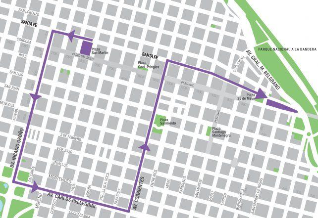 <b>El recorrido.</b> La marcha por el 8M comenzará a las 16 y se dirigirá a la zona del Monumento.