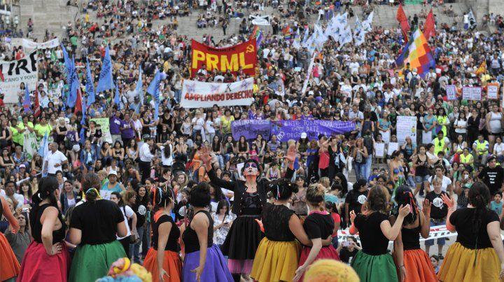 Movilización. Se espera una masiva concurrencia a la movilización por el Día de la Mujer.