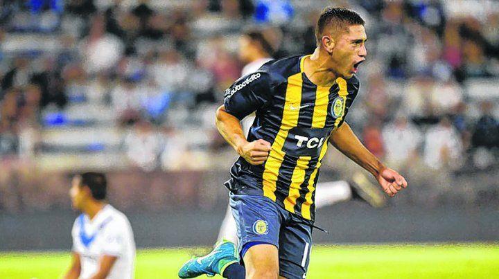 Lo dio vuelta.López Pissano festeja su primer gol en primera.
