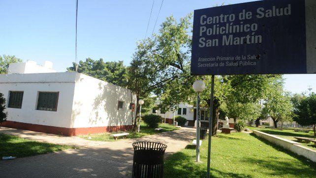 La víctima fue atendida en el Policlínico San Martín.