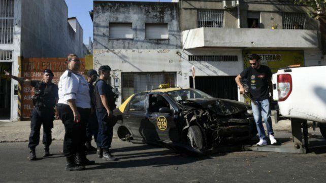El asalto a un taxi que derivó en persecución y terminó en choque