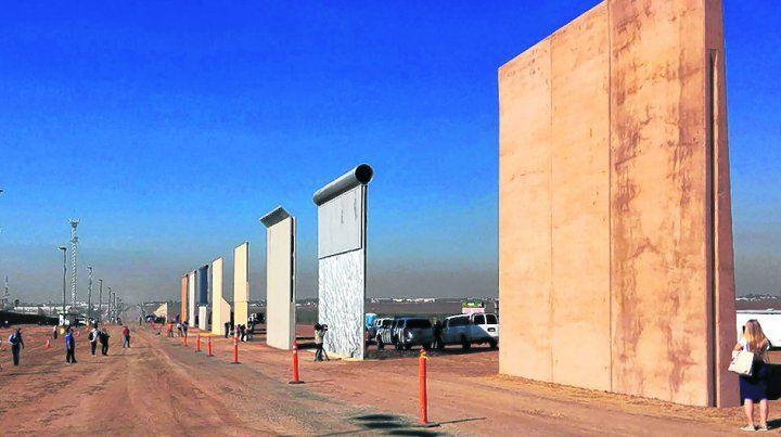 modelos. Los ocho prototipos de muro fronterizo que observará Trump en San Diego.