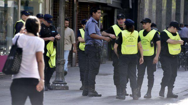 Las peatonales tendrán un refuerzo de policías por el paro de mañana y pasado.