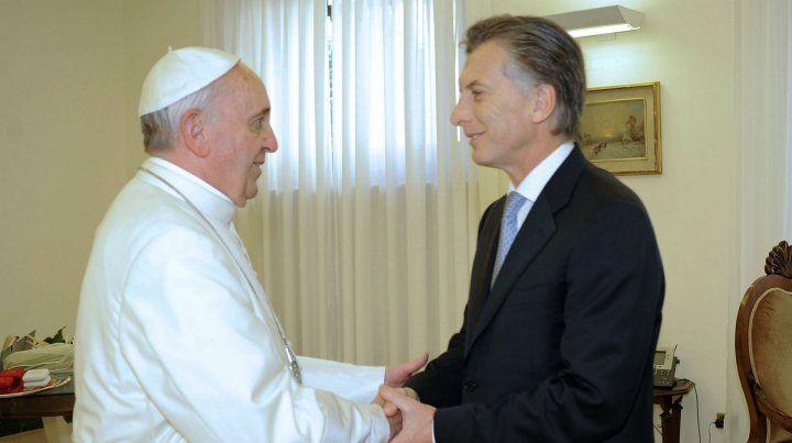 El Papa y Macri