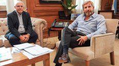El gobernador santafesino y el ministro del Interior de la Nación. (Foto de archivo)