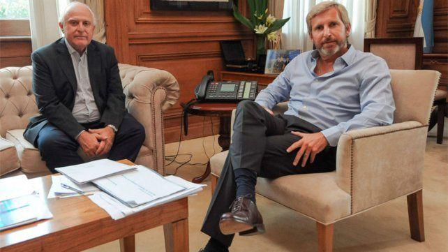 Encuentro en la Casa de Gobierno. Lifschitz y Frigerio intentan avanzar en el pago de la deuda millonaria.