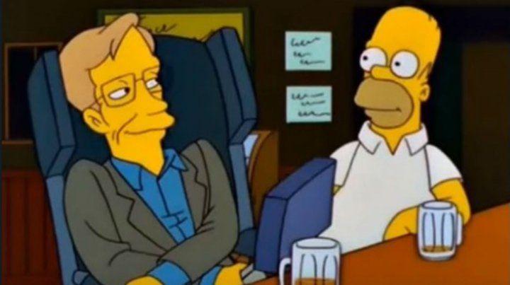 El día que Stephen Hawking fue un personaje de Los Simpsons