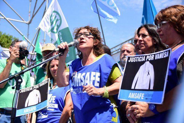 Sonia Alesso, secretaria general de Amsafe.