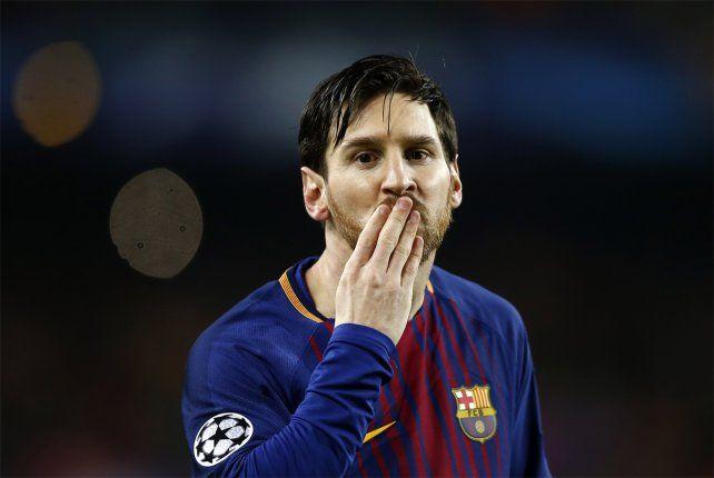Dedicatoria especial. Messi saludó a su hijo Ciro luego de sus dos conquistas en el Camp Nou.