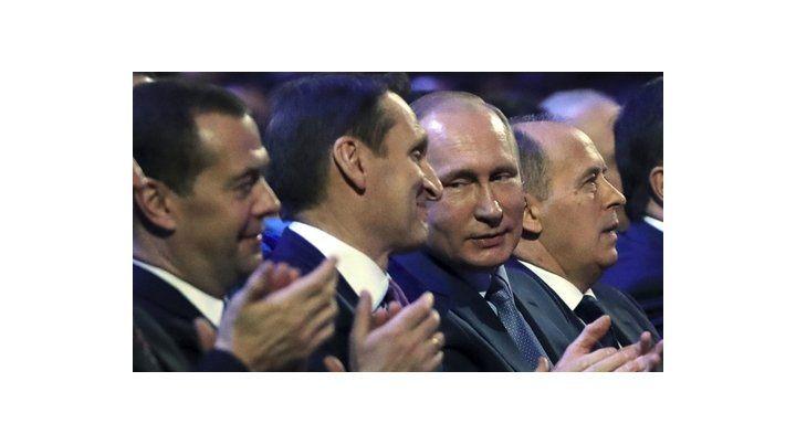 Espionaje. El presidente Vladimir Putin aparece junto a la cúpula de los servicios de inteligencia de Rusia.