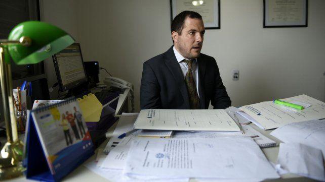 Fiscal. Leandro Lucente llevó adelante la acusación contra los dos sicarios que seguirán presos.