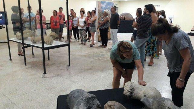 En el Museo Itinerante Guardia de la Esquina se hizo la muestra Animales prehistóricos de estas tierras.