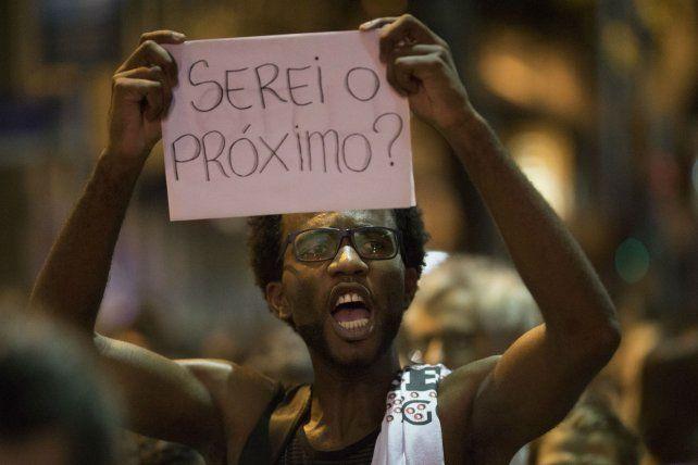 Malestar. Las protestas por el asesinato de Franco continúan en Río.