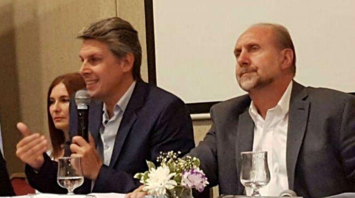 El diputado Alejandro Grandinetti y el senador Omar Perotti.