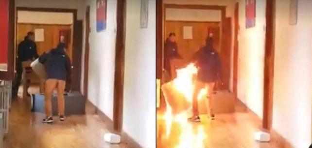 Intentó incendiar la Municipalidad de Bariloche porque no le renovaron el contrato