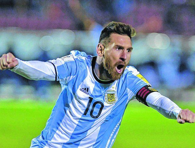 Carta de triunfo. Messi es el máximo argumento para que Argentina logre la gloria en Rusia. El Mundial arranca en junio.