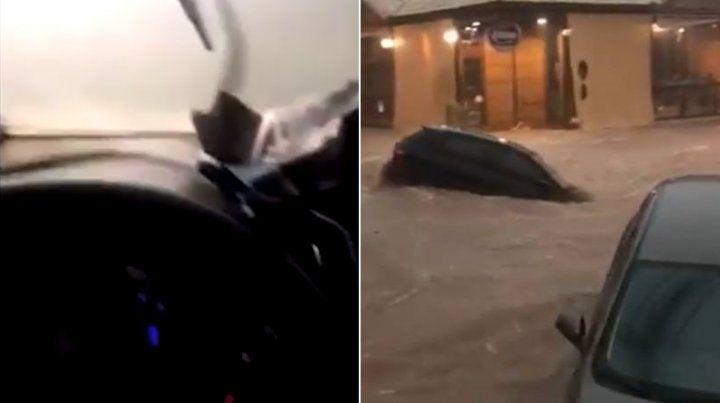 Las imágenes. Se vivieron horas dramáticas en Belo Horizonte por las fuertes tormentas.