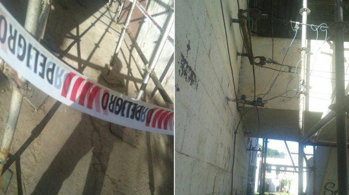 El lugar. La zona donde se produjo el incidente que alarmó a los vecinos del Fonavi.