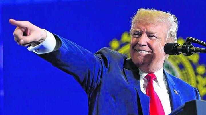 apuntando. Trump es un frontal adversario del régimen chavista de Nicolás Maduro.