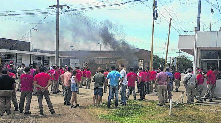 reciente. A principios de febrero los obreros llegaron a cortar la ruta para visibilizar la protesta por lo adeudado.