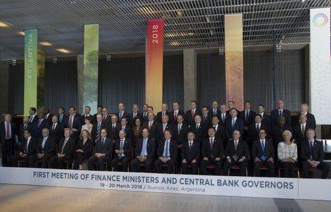 cumbre. Los ministros de Finanzas del G20 están reunidos en Buenos Aires.