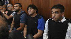 Guille Cantero, Leandro Vilches, Máximo Ariel Cantero y Ramón Monchi Machuca. El fiscal pidió penas para todos.