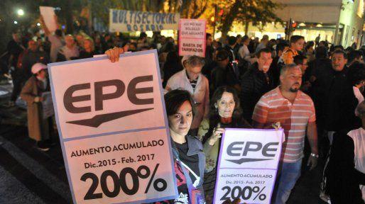 Una de las marchas en contra de los tarifazos.